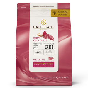 Čokoláda Ruby Callebaut 2,5 kg