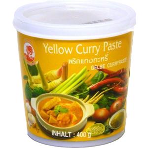 Thajská žlutá kari pasta Cock Brand 400 g  + 10% sleva na celý nákup s kódem: LETO10