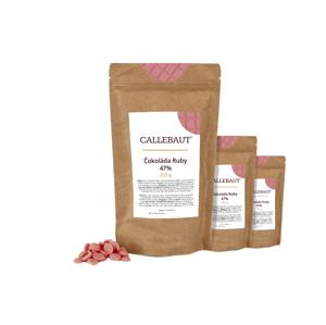 Čokoláda Ruby Callebaut 750 g (3 x 250 g)