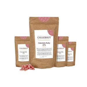 Čokoláda Ruby Callebaut 1 kg (4 x 250 g)