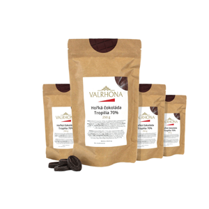 Hořká čokoláda Tropilia Valrhona 70% 1 kg (4 x 250 g)