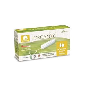 Organyc Tampony Regular (16 ks) 100% z biobavlny, 2 kapičky