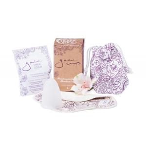 Gaia Cup Menstruační kalíšek - velký balení včetně slipové vložky a čističe