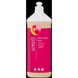Sonett Tekuté mýdlo - růže BIO (1 l) pro vaše ruce, obličej i celé tělo