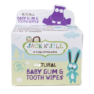 Jack n' Jill Dětské vlhčené ubrousky na dásně a zoubky (25 ks)