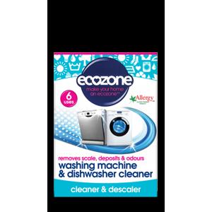 Ecozone Čistič praček a myček na nádobí (6 ks) - AKCE sleva za pomačkaný obal