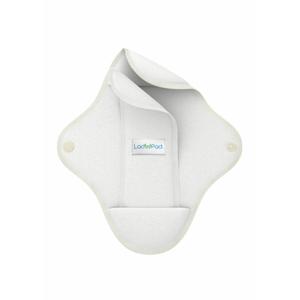 LadyPad Látková vložka s vkládací vložkou (M) - bílá z bambusu a bio bavlny