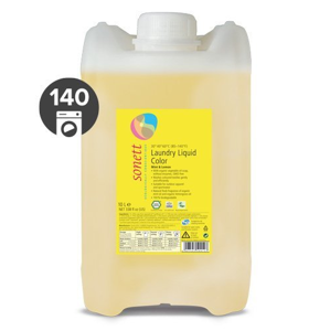 Sonett Tekutý prací gel na barevné prádlo BIO (10 l) s mátou a citrónem
