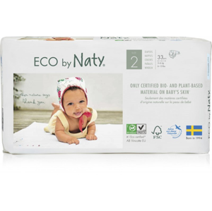 Naty Ekoplenky Mini 2 (3 - 6 kg) (33 ks) z 55-60 % rozložitelné