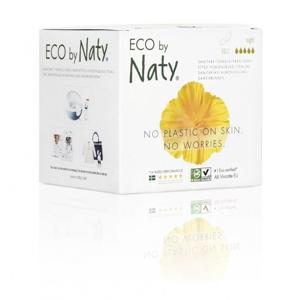 Naty Noční vložky s křidélky (10 ks) 100% přírodní materiál, 5 kapiček