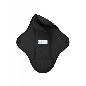 LadyPad Látková vložka s vkládací vložkou (M) - černá z bambusu a bio bavlny