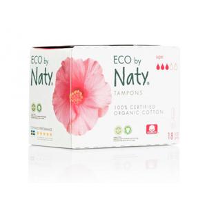 Naty Tampony Super (18 ks) 100% z biobavlny, 3 kapičky