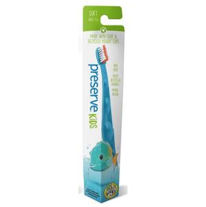 Preserve Dětský zubní kartáček (soft) - azurový z recyklovaných kelímků od jogurtů