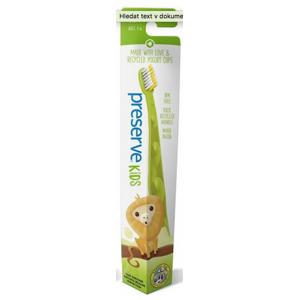 Preserve Dětský zubní kartáček (soft) - zelený z recyklovaných kelímků od jogurtů