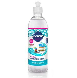 Ecozone Prostředek na mytí nádobí Sensitive - bez vůně (500 ml)