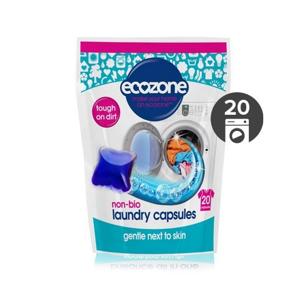 Ecozone Univerzální tablety na praní bez enzymů (20 ks) extra účinné na skvrny a špínu
