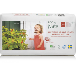 Naty Ekoplenky Maxi+ 4+ (9 - 20 kg) Economy pack (42 ks) z 55-60 % rozložitelné