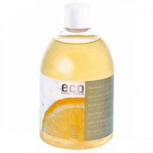 Eco Cosmetics Tekuté mýdlo s vůní citrónu BIO (náplň 500 ml) pro mytí rukou i celého těla