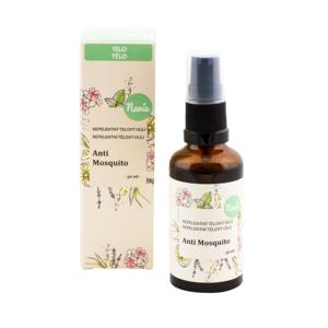 Navia Repelentní tělový olej Anti Mosquito BIO (50 ml) působí proti komárům a klíšťatům