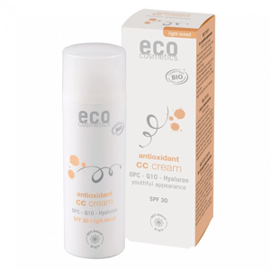 Eco Cosmetics CC krém SPF 30 BIO - light (50 ml) komplexní péče pro vaši pleť