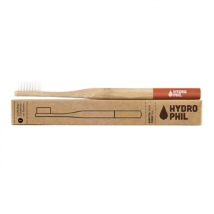 Hydrophil Bambusový kartáček (medium) - červený 100% z obnovitelných zdrojů