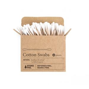 Hydrophil Vatové tyčinky do uší (100 ks) z bavlny a bambusu