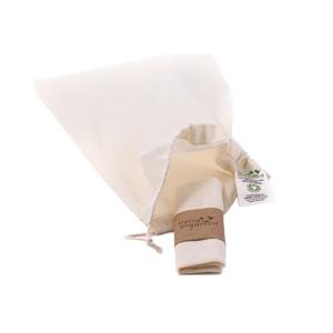 Casa Organica Plátěný sáček - malý (balení po 3 ks) z biobavlny, s utahovací šňůrkou