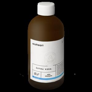 Ecoheart Ústní voda Máta a eukalyptus (300 ml) ve skleněné lahvi