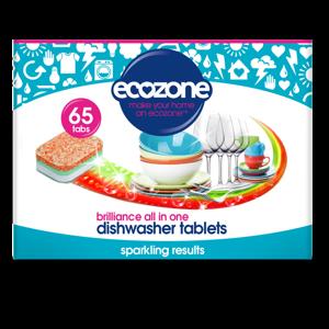 Ecozone Tablety do myčky Brilliance - vše v jednom (65 ks) - AKCE