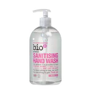 Bio-D Tekuté mýdlo - s vůní pelargónie (500 ml) s dezinfekčním účinkem