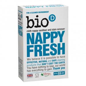 Bio-D Odstraňovač skvrn a dezinfekce plenek (500 g) přísada k pracímu prášku