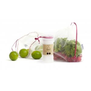Frusack Knit Duo Pack - růžová (2 ks) z pevné kompostovatelné pleteniny
