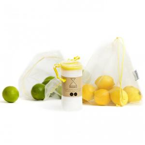 Frusack Knit Duo Pack - žlutá (2 ks) z pevné kompostovatelné pleteniny