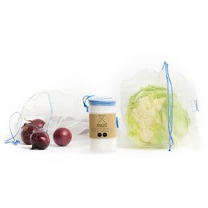Frusack Knit Duo Pack - modrá (2 ks) z pevné kompostovatelné pleteniny