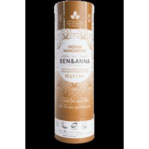 Ben & Anna Tuhý deodorant (60 g) - Indická mandarinka s vůní oloupaných klementinek
