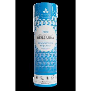 Ben & Anna Tuhý deodorant (60 g) - bez vůně nezanechává lepivý pocit v podpaží