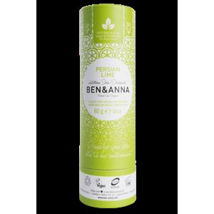 Ben & Anna Tuhý deodorant (60 g) - Perská limetka nezanechává lepivý pocit v podpaží