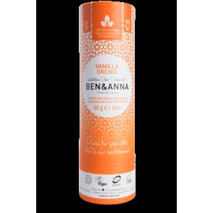Ben & Anna Tuhý deodorant (60 g) - Vanilková orchidej vůně podržená kapkou sladké vanilky