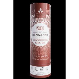Ben & Anna Tuhý deodorant (60 g) - Severské dřevo vůně vhodná pro muže