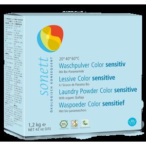 Sonett Prací prášek na barevné prádlo Sensitive BIO (1,2 kg) - AKCE sleva za poškozený obal