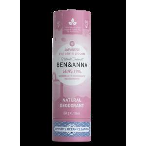 Ben & Anna Tuhý deodorant Sensitive (60 g) - Třešňový květ - AKCE