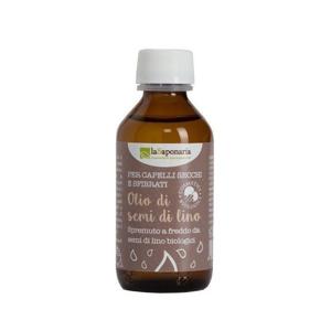 laSaponaria Lněný vlasový olej za studena lisovaný BIO (100 ml)