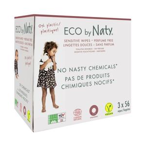 Naty Dětské vlhčené hygienické ubrousky Economy pack (3 x 56 ks) vhodné i pro velmi citlivou pokožku