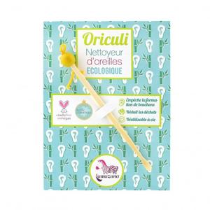 Lamazuna Oriculi zero waste bambusový čistič uší - žlutý (1 ks) jeden na celý život