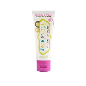 Jack n' Jill Dětská zubní pasta - lesní směs BIO (50 g) bez fluoru, s bio extraktem z měsíčku