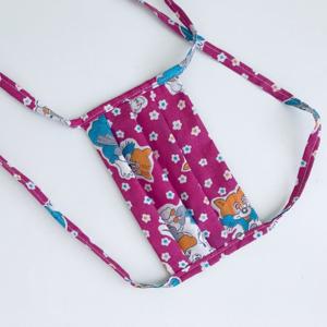 Meera Design Dětská ochranná rouška ze 100% bavlny - růžovka (1 ks) pomáhá lokálním švadlenám