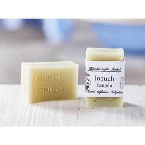 Mýdlárna Koukol Tuhý šampon proti lupům - Lopuch (70 g) pomáhá s léčbou seborey