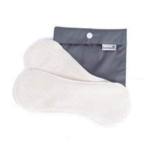Bamboolik Látkové menstruační vložky z biobavlny - suchý zip (2 ks+pytlík) s certifikátem gots