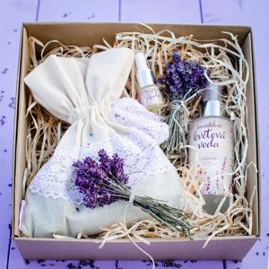 Levandulovna Dárková krabička levandulových pokladů nejvoňavější dárek s překvapením