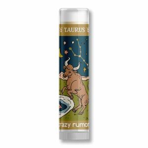 Crazy Rumors Balzám na rty Zodiac - Býk (4,4 ml) pro produktivní a spolehlivé býky